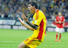 Bogdan Stancu anger reaction in Romania-Turkey World Cup Qualifier Game Royalty Free Stock Photos
