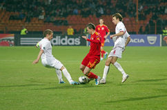 Bogdan Stancu met bal Royalty-vrije Stock Fotografie