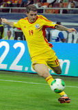 Bogdan Stancu players in Romania-Turkey World Cup Qualifier Game Royalty Free Stock Photos