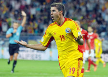 Bogdan Stancugoal celebration in Romania-Turkey World Cup Qualifier Game Stock Photo