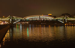 Bogdana Hmelnitskogo bridge in Moscow Royalty Free Stock Image