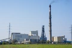 Bogdanka, Poland, SEPTEMBER 11, 2016: Bogdanka coal mine. Lubels. Ki Wegiel Bogdanka S.A. is one of the leading manufactures in hard coal market in Poland Royalty Free Stock Images