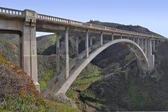 Bogen-Brücke auf der Pazifikküste Stockfoto