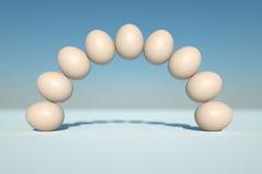Bogen der Eier Stockfotografie