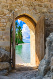 Bogen in der Festung Stockfotos