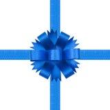 Bogen des blauen Farbbands Stockbild