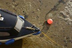 Bogen des Bootes und Sand in Margate beherbergten. Kent. England Lizenzfreie Stockfotografie