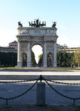 Bogen des Friedens (Mailand, Italien) Stockfotografie