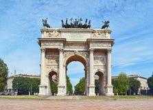 Bogen des Friedens in Sempione-Park, Mailand, Lombardei, Italien Stockfotografie