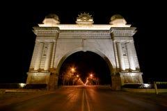 Bogen des Sieges nachts, Ballarat Lizenzfreie Stockbilder