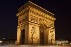 Bogen des Triumphes nachts, Paris, Frankreich Stockfoto