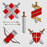 Bogen en zwaarden Royalty-vrije Stock Afbeeldingen