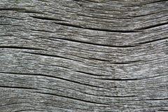 Bogen-förmige Sprünge auf dem Standort des alten grauen Holzes Lizenzfreie Stockfotos