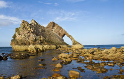 Bogen Fiddle Rock, Portknockie, Schottland Stockfotografie