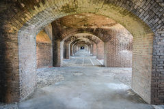 Bogen, Fort Jefferson bij het Droge Nationale Park van Tortugas Stock Fotografie