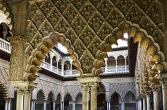 Bogen in Koninklijke Alcazar van Sevilla, Spanje Stock Fotografie
