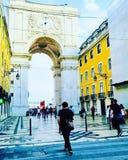 Bogen in Lissabon stockbilder