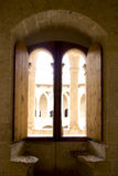 Bogen Majorca Bellver im Schloss Stockfotos