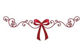 Bogen mit dem eleganten Ring mit Filigran geschmückt Stockfotos