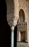 Bogen mit moresque Verzierungen Schloss im des 16. Jahrhunderts Alhambra, Granada, Spanien Stockbild