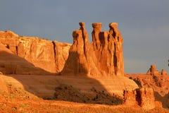 Bogen Nationaal Park in het vroege ochtendlicht Royalty-vrije Stock Fotografie
