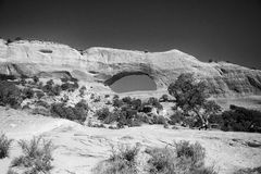 Bogen Nationaal Park in Moab, Utah stock fotografie