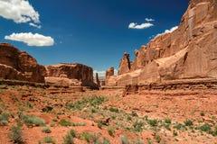 Bogen Nationaal Park, Moab, Utah Stock Afbeeldingen