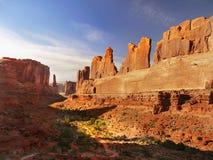 Bogen Nationaal Park, Moab, Utah Royalty-vrije Stock Afbeelding