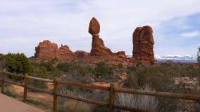 Bogen Nationaal Park in Utah - beroemd oriëntatiepunt stock videobeelden