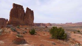 Bogen Nationaal Park in Utah - beroemd oriëntatiepunt stock footage