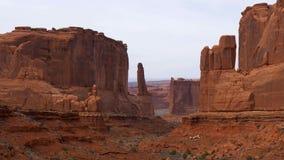 Bogen Nationaal Park in Utah - beroemd ori?ntatiepunt stock footage