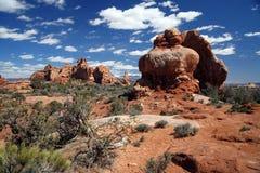 Bogen-Nationalpark nahe Moab, Utah Stockfotos