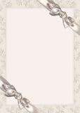 Bogen op de uitnodiging van het Huwelijk Stock Afbeelding