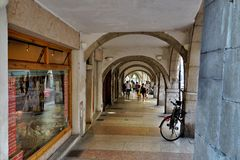 Bogen in Trento, Italië stock foto