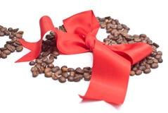 Bogen und Kaffee lizenzfreies stockfoto