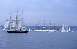 Bogen und Rückenbrett des großen sailship stockfotografie