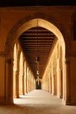 Bogen van de Moskee van Ahmad Ibn Tulun in Kaïro, Egypte Stock Afbeeldingen