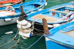Bogen van traditioneel vissersboten vastgelegd close-up royalty-vrije stock afbeelding