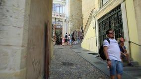 Bogen von Almedina Coimbra stock video footage