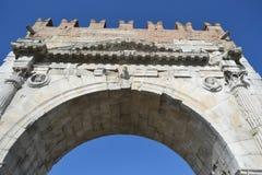 Bogen von Augustus in Rimini Stockfotografie
