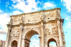 Bogen von Constantine, Rom Stockbild