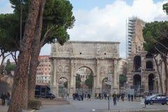 Bogen von Constantine in Rom Lizenzfreie Stockfotografie