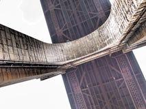 Bogen von Ed Koch Queensboro Bridge, unter Brücke lizenzfreies stockfoto