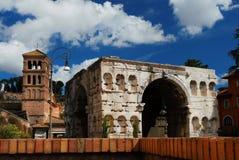 Bogen von Janus in Rom stockfoto