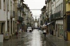 Bogen von Rua Souto, allgemein verwiesen als der Nova ACROs DA Porta in Braga lizenzfreie stockfotos