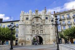 Bogen von Santa Maria, Burgos, Kastilien y Leon, Spanien Lizenzfreie Stockfotografie