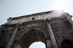 Bogen von Septimius Severus Stockbild