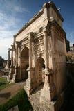 Bogen von Septimius Severus Stockfotografie