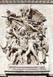 Bogen von Triumph â Le Depart Lizenzfreies Stockbild