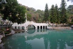 Bogenbrücke Chinese Jiuhoushan sieben Lizenzfreie Stockfotografie